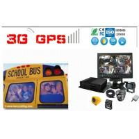 School Buse Surveillance System 4 camera Car DVR with GPS / 3G / WIFI Live View