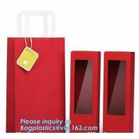 luxury wine carrier bag,paper bag for wine,paper wine bag,Free Design!! Free Sample!!! flower carrier bag cheap brown pa