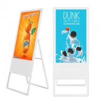 Portable Mobile 49 Inch Floor Stand Poster LCD Advertising Digital Signage Display Boards
