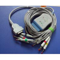 GE marqutte  MAC500/1300 10lead ekg cable with 4.0mm banana