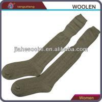Knee high wool socks for women fashion stocking