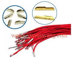 China factory price jiayang gold size sharp end tip for elastic lace metal t tip barb on sale