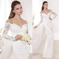 Sexy Sweetheart Womens Wedding Dresses Split Backless Long Sleeve