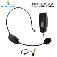 NEWGOOD UHF Headset Stereo Nature Sound Voice Amplification Wireless Microphone Megaphone with Dual USB Charge Cable