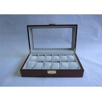 Customized Solid Wooden Watch Boxes With Hinged Lid , Retro Style