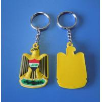 UAE National Day Gift Yellow Eagle 3d Rubber Soft PVC Keychains / Eagle Keyrings Accept OEM