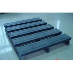 China Environment Friendly Wood Plastic Composite Pallet Dark Grey and Single Faced on sale