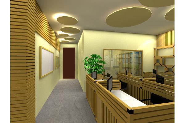 Muebles de Oficina de cartón de tubo OEM rígido papel cuadrado verde
