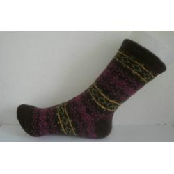 China Custom Winter Ladies Cashmere Socks , Terry-loop Socks With Argyle Logo for Sports on sale