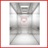 Hairline Stainless Steel High Speed Elevator 1600kg Load For Hospital