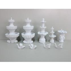 China model swan scale sculpture,doll house decoration,model stuffs,fake ABS fountain,plastic fountains on sale