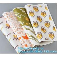 New Waterproof Craft Color Print Gift Wrap A4 Fast Food Sandwich Products Wrapping Kraft Paper,