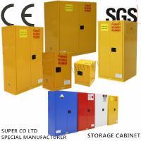 Vertical Drum Hazardous Flammable Storage Cabinet Fully Welded , 60 Gallon