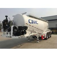 Particle Cement Hauling Trailers Tank Semi Trailer With 8m3 Compressor