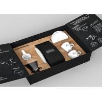 Suvenir Luxury Packaging Boxes , Creative Gift Matte Black Box Packaging Teapot Dishes Utensil