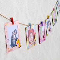 Cheap 9 pcs/lot 6 Inch DIY Wall Hanging Cute Animal Paper Photo Frame For Pictures
