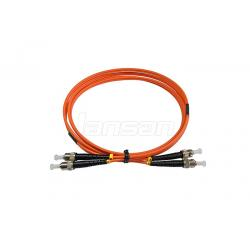 China ST / UPC Fiber Optic Patch Cord 8 Degree OM3 Multimode Fiber Patch Cable on sale