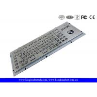 IP65 Rated Stainless Steel Industrial Computer Kiosk Keyboard With Trackball