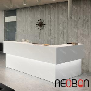 modern beauty salon reception desks curved reception