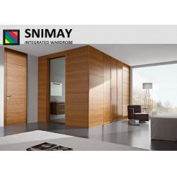 China Luxury Drawing Room Door / internal wooden doors Dark Wood Bedroom Furniture on sale