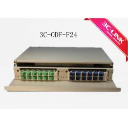 China 24 cores 1.5U 19 inch  Rock mounted Optical Distribution Frame patch panel on sale