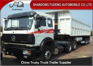 6 X 4 Drive Type Heavy Duty Dump Truck ,  371HP Power Truck Tractor