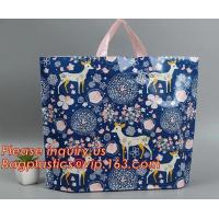 Soft Loop Handle Bag For Supermarket Shopping plastic bag manufacturer eco green bio,soft loop handle PE shopping bag