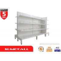 Large Gondola Display Shelving With Dimpled Hole Peg Panel L900 x D450/450 x H2100mm