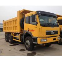 Front Lifting 30 Tons Tipper Truck , 18 - 22cbm Dump Body Size Tri Axle Dump Truck