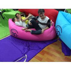 China 2016 Hot selling U style lay bag lamzac hangout inflatable sleeping bag/ lazy bag on sale