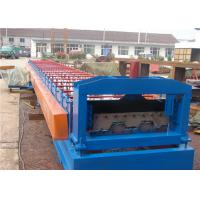 Roof And Floor Deck Roll Forming Machine 380v With Steel Bearing Board