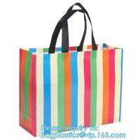 Eco friendly custom slogan laminated pp non woven bag with private logo, Home textile packaging non woven bag for bed sh