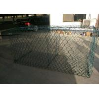 PVC Coated Galvanized Gabion Wire Mesh 2 X 1 X 1m Fit Rivers Control