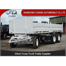 China Bulk Cargo Side Wall Trailer FUWA / BPW Brand Axles Carbon Steel Material on sale