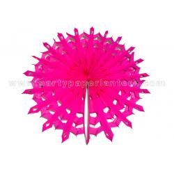 China Snowflake Round Hanging Paper Fans , Party Decoration Any Colors on sale