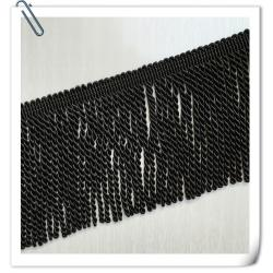 China 2017 Factory Direct Hot Sales New Style Black Color Cotton Bullion Tassel Trims fringe For Sofa on sale