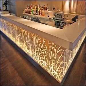 Modern design hotel club glowing led bar counter for sale for Designhotel 54