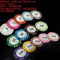 XF MONTE CARLO Standard Casino Chips For Poker Games In Poker Club