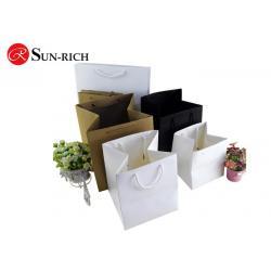 China Custom white black Brown big square Paper storage bag for flower , bonsai on sale