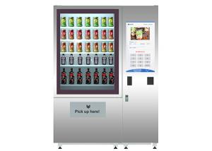 ODM OEM Vegetable Fruit Salad Food Vending Machine With Elevator / Cooler