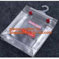 Foldable Coat Stereo Clear Hanging Hook Hanger Bag*,garment packing printed hanger bags with snap button closure bagease