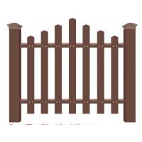 Pe plastic wood fence fence wood plastic material fence factory direct park wood plastic fence