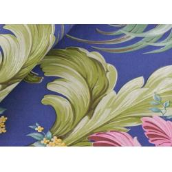 China PVC Floral Pattern Self Adhesive Wallpaper Soundproof with Blue Color , 0.53*10m on sale