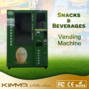Eggs / Warm Food / Noodles Fresh Food Vending Machine With Automatic Elevator