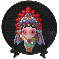 Chinese Gift Home Adornment Circular Characters Clay Sculpture