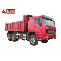 6x6 All Wheel Drive Heavy Duty Dump Truck Rear Tipping Type In Red Color