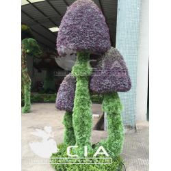 China Plastic Mushroom Artificial Plants Topiary Sculpture UV protection Plants for Garden Decor on sale