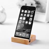 Mini Simple Style Wooden Phone Holder / Wooden Smartphone Stand Bamboo Made