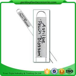 China Durable Silver Metal Garden Plant Markers With Vertical Name Plates on sale