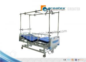 China Easy Cleaning Four Crank Manual Hospital Bed / Manual Orthopedics Bed For Clinic , Family supplier